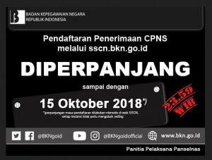 CPNS 2018 Diperpanjang