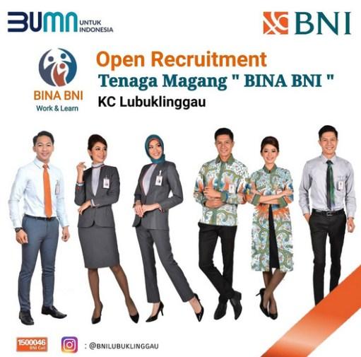 Lowongan Bank BNI KC Lubuklinggau